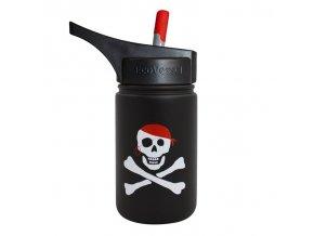 Dětská láhev s brčkem a pítkem Eco Vessel Pirát 400 ml
