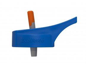 Náhradní uzávěr na dětské láhve Eco Vessel s brčkem modrý